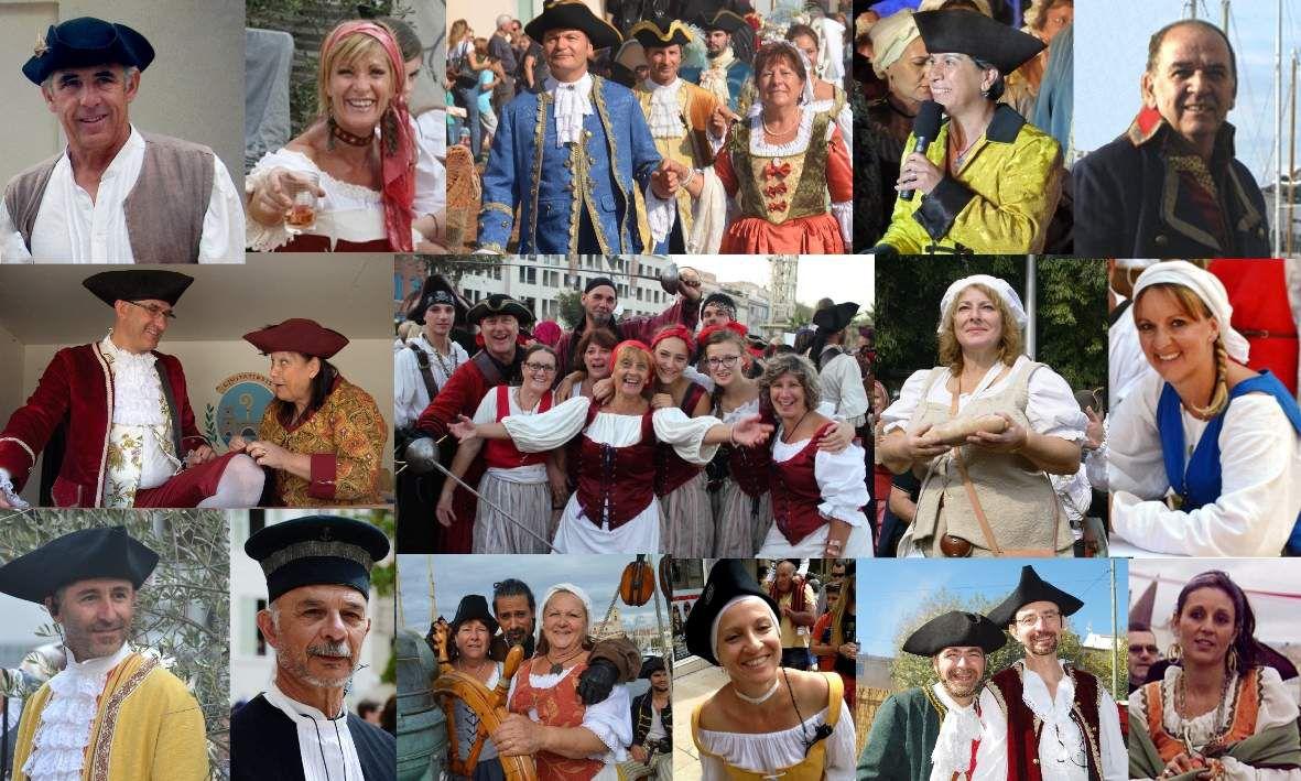 Une partie de l'équipe d'organisation du Festival historique 1720