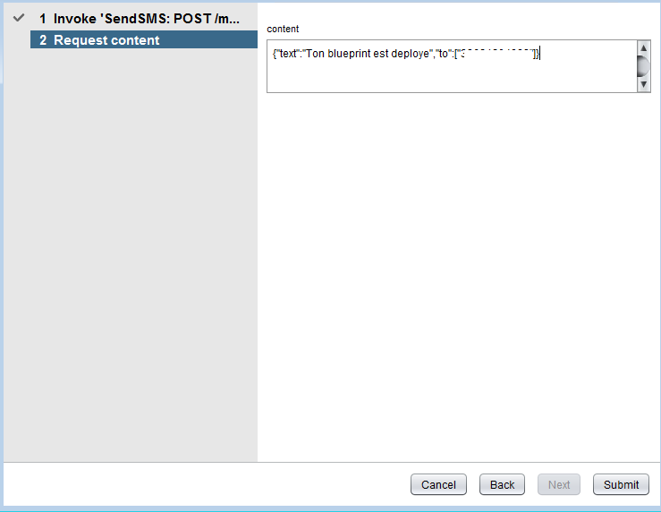How  to create and Advanced service (XaaS) to send SMS with vRealize Automation