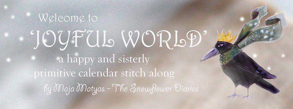 SAL Calendrier 2016 Joyful World  de The Snowflower Diaries