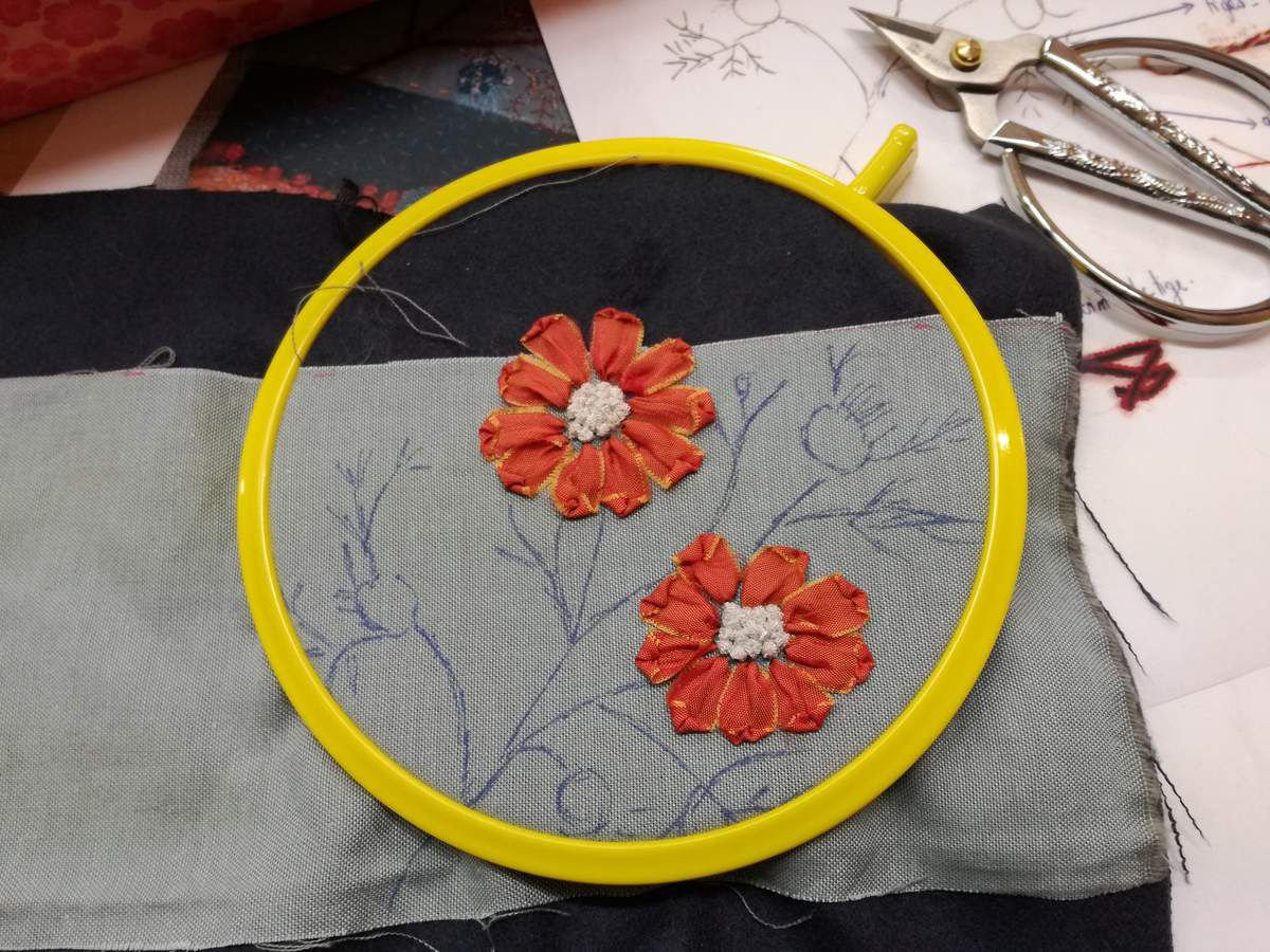 Atelier Pochettes Fleuries / Broderie façon &quot&#x3B;Cécile Facile&quot&#x3B; vendredi 4 mars