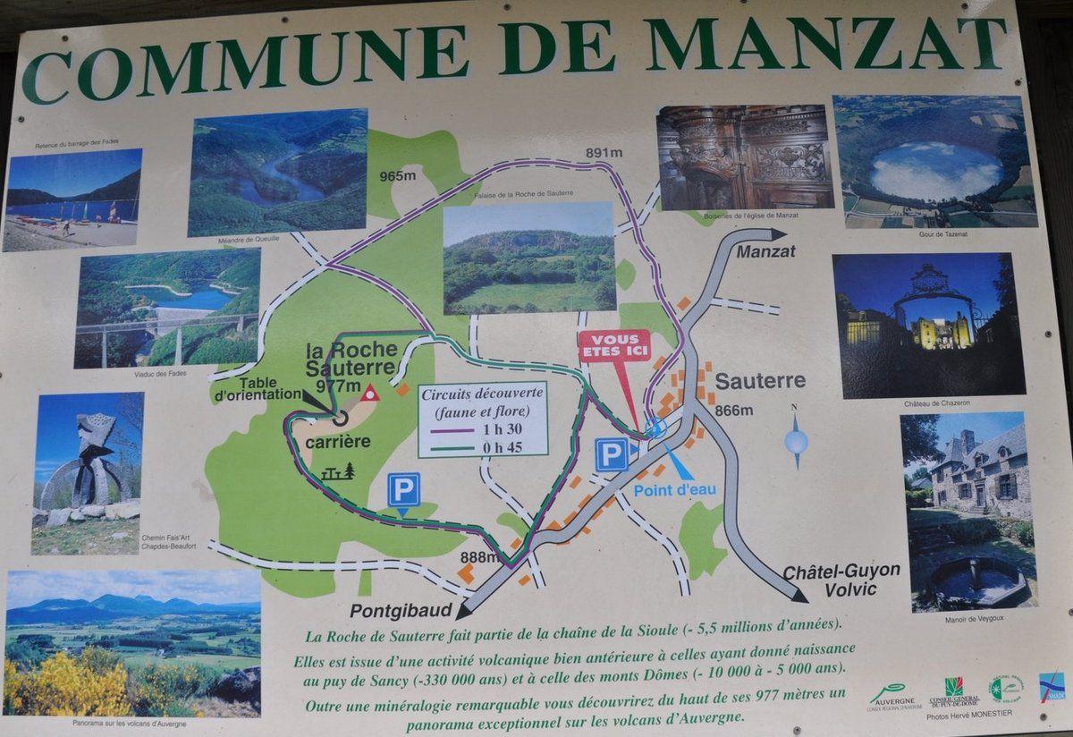 On va grimper jusqu'à la Roche Sauterre. (voir plan ci-dessus).