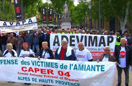 Vendredi 7 octobre : manifestation nationale des victimes de l'amiante