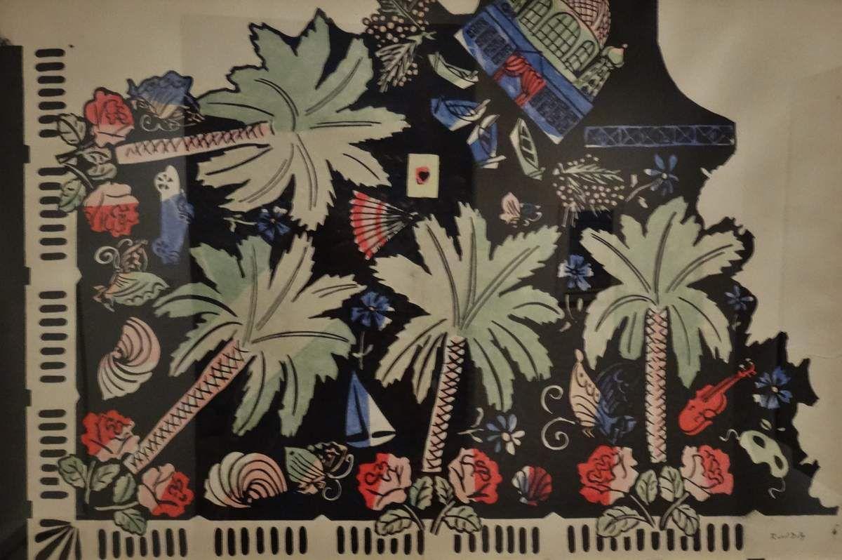 Le motif à l'origine du dessin de Dufy pour une soierie lyonnaise