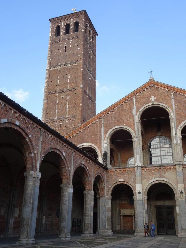 Milan : la forteresse Sforza - Saint Ambroise