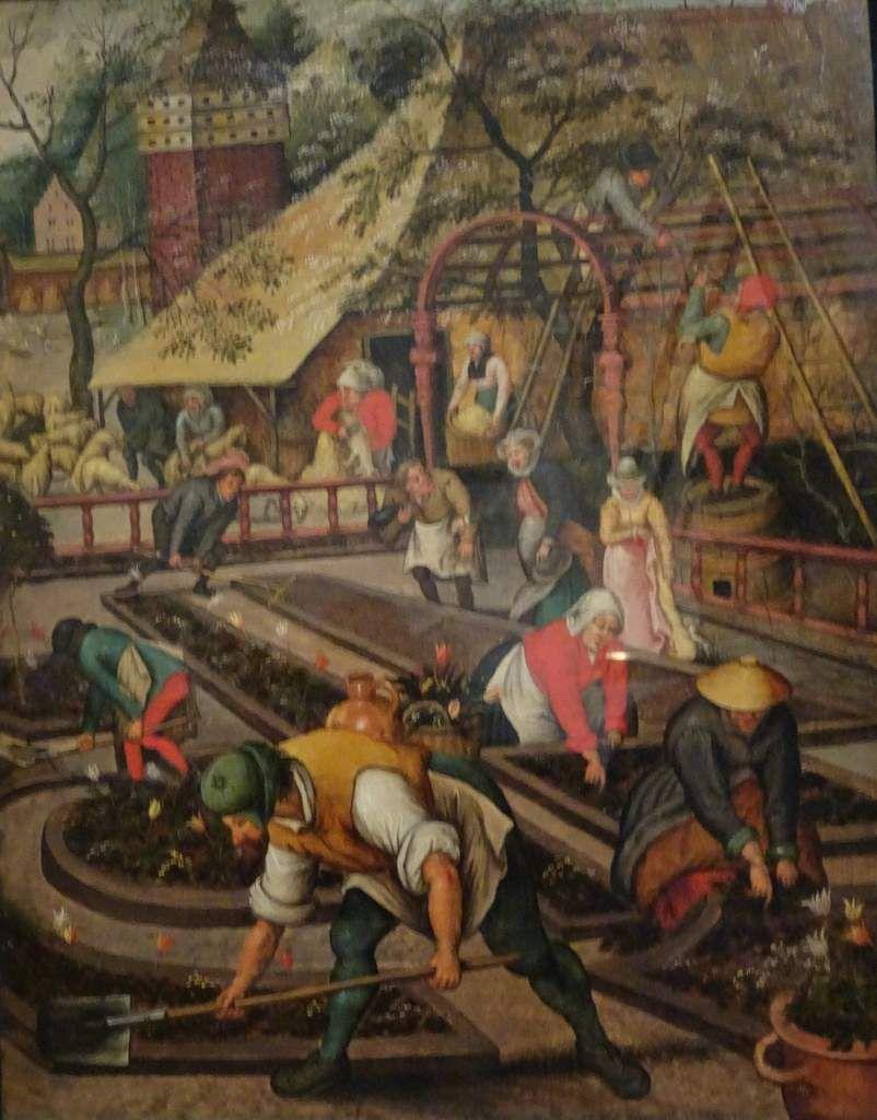 Notre vidéo attribue les oeuvres et en décrit certaines. Dans le tableau de Brueghel les personnages sont disséminés dans la nature pour montrer que l'homme détermine la forme des paysages