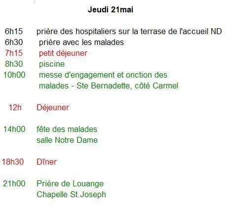 4ème jour avec nous à Lourdes