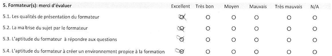 Satisfaction stagiaires Sept-Oct 2015 : 100% Excellent