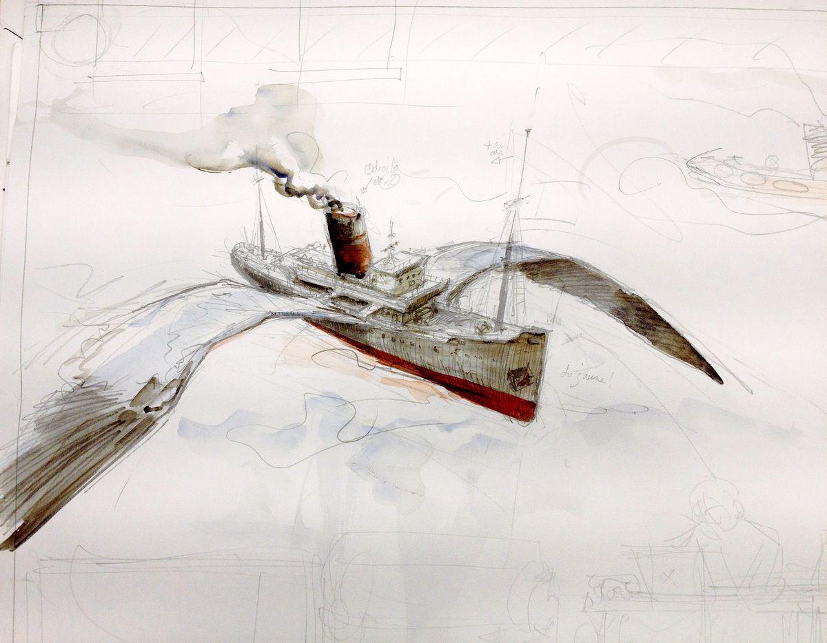 Paquebot volant, remorqueur, et belle Mer chez Stirling Design à Nantes