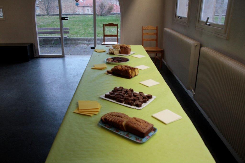 Adèle Fontaine et notre buffet