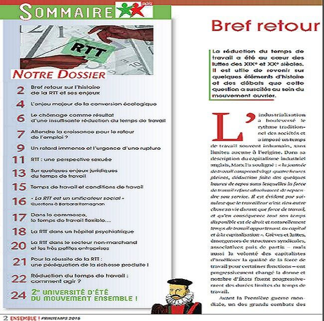 ENSEMBLE BULLETIN D'INFORMATION N°9