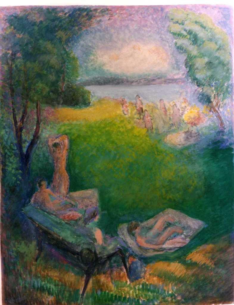 Plage d'Amphion par Louis Bénisti (1993)