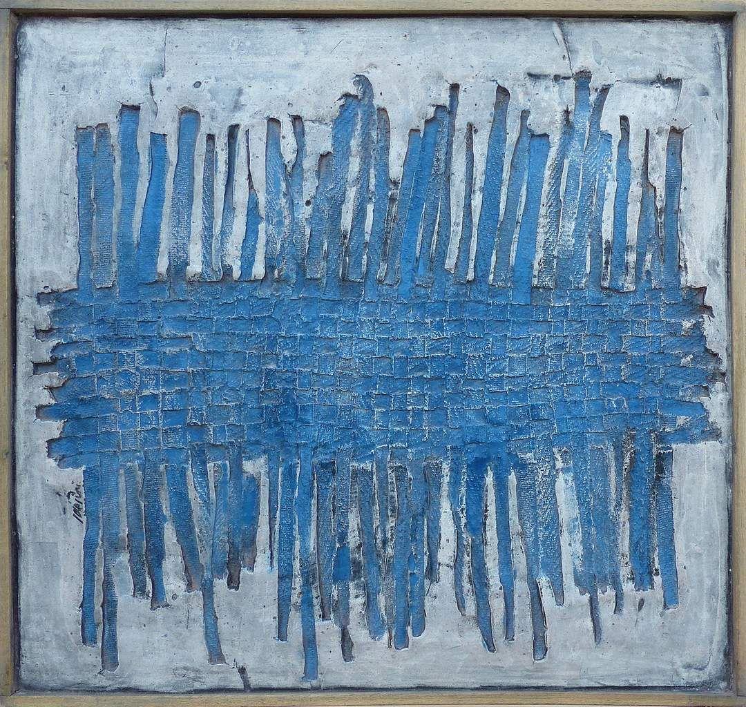 Empreinte, 2015. 50 x 50 cm. Technique mixte.