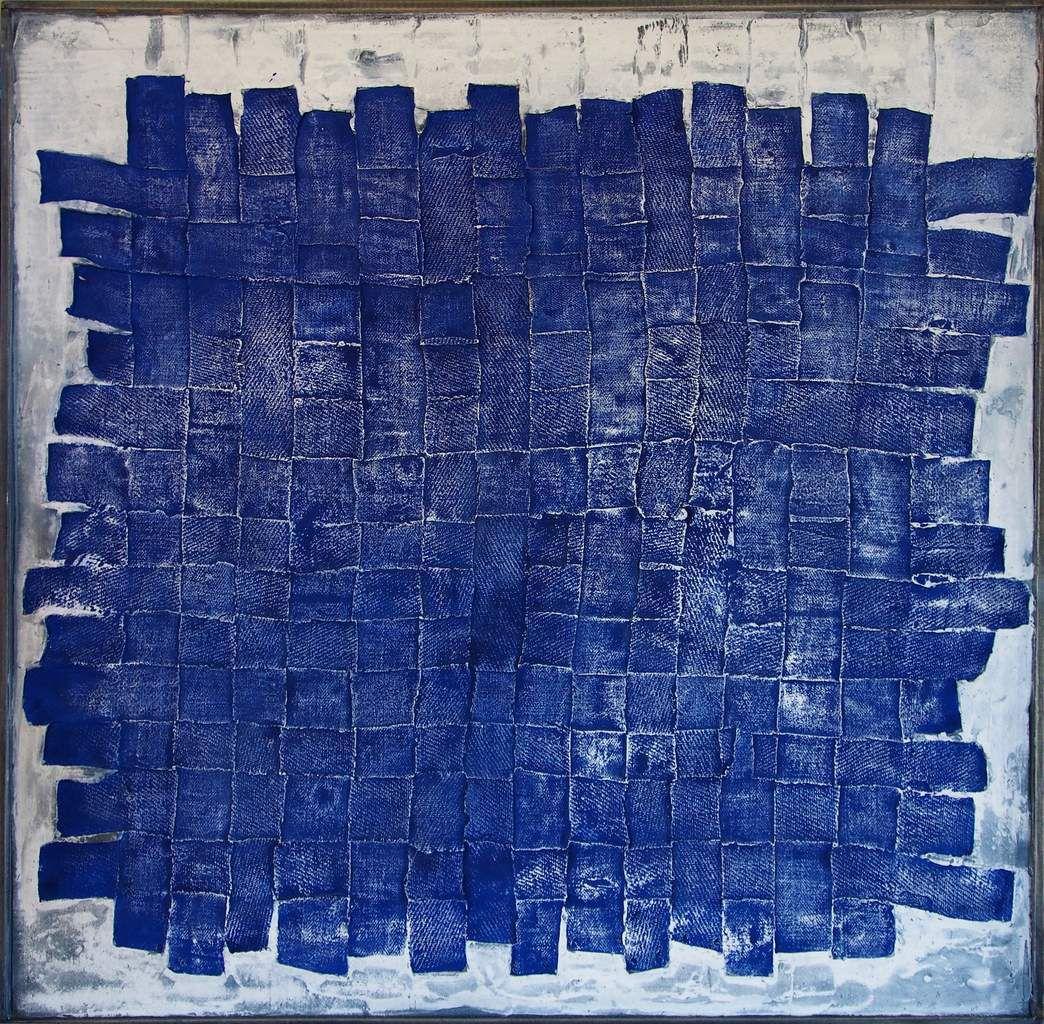 Empreinte, 2015. 100 x 100 cm. Technique mixte.