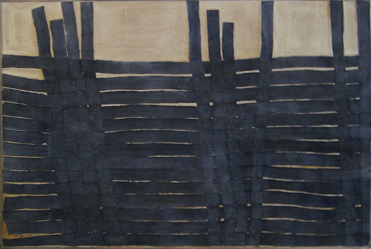 Empreinte, 2008. 150 x 100 cm, toile, colle, pigments.
