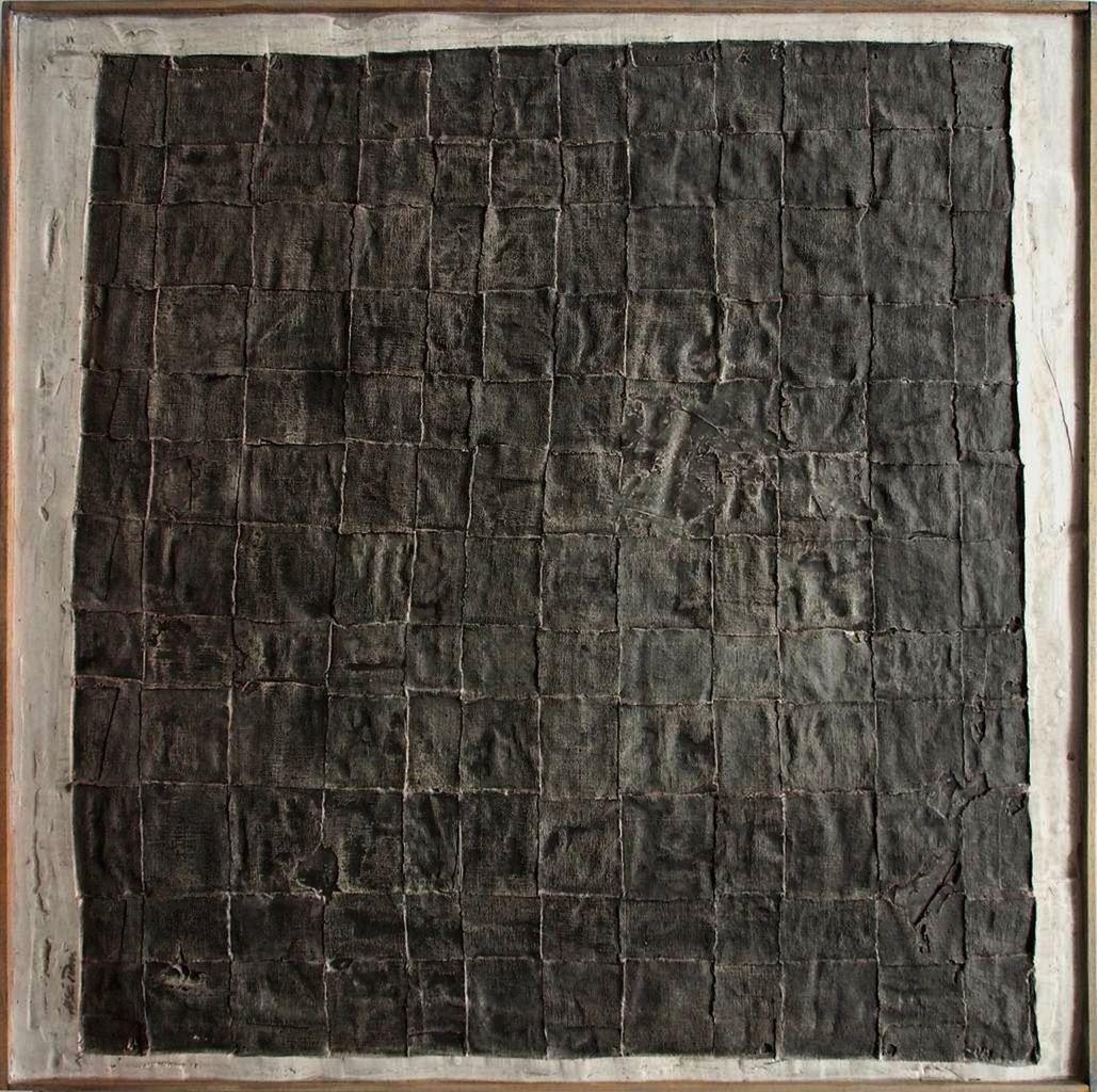 Empreintes, 2015. Quadriptyque 100 x 100 cm. Technique mixte.
