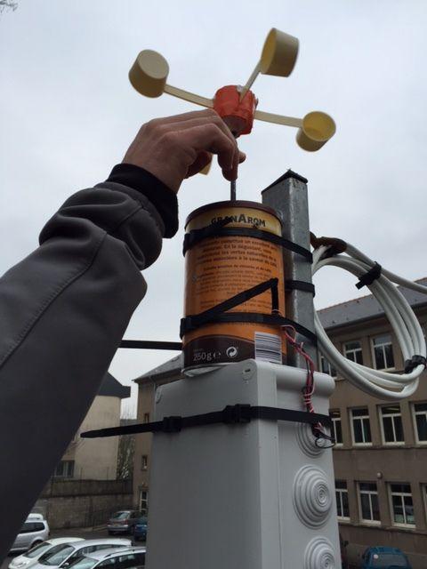 Installation de notre station météo.