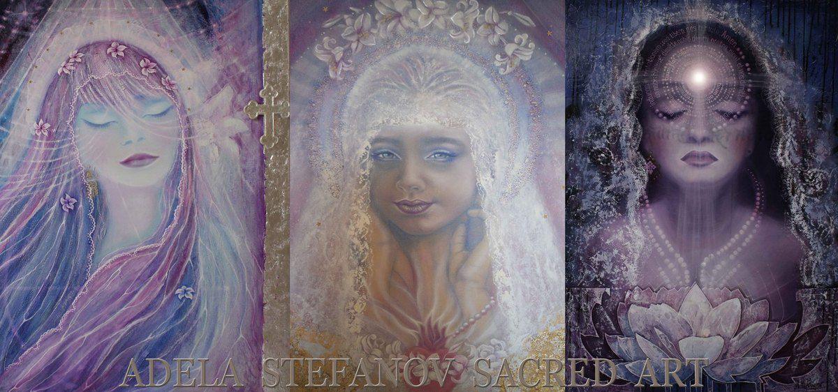 PRAYER FOR PEACE_ oil on canvas, by  Adèla Stefanov
