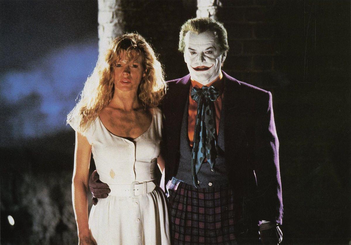 "Kim Basinger et Jack Nicholson alias Joker dans ""Batman"". 1989."