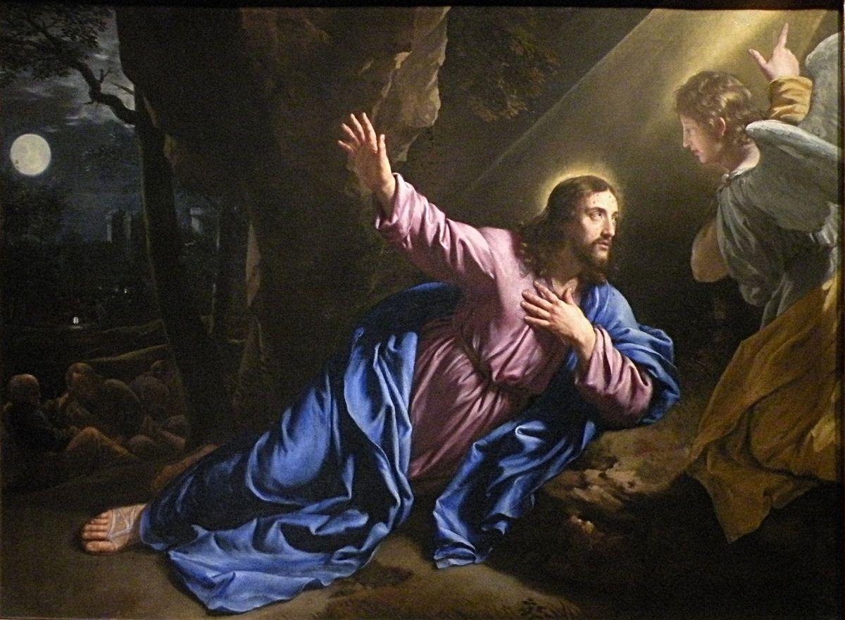 Le christ au jardin des oliviers 1646 50 philippe for Au jardin des oliviers