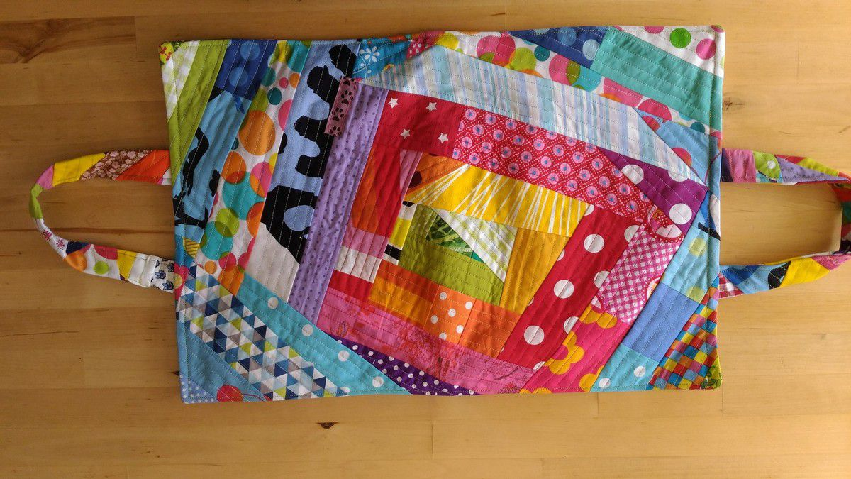 Sac d'artiste en bloomin'quilt as you go