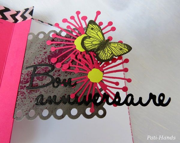 Carte pop-up Anniversaire