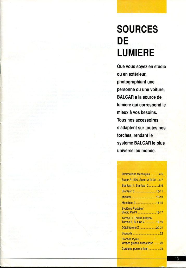 Catalogue Balcar 1990