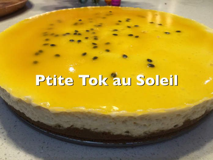 Cheesecake mousseux au fruit de la passion