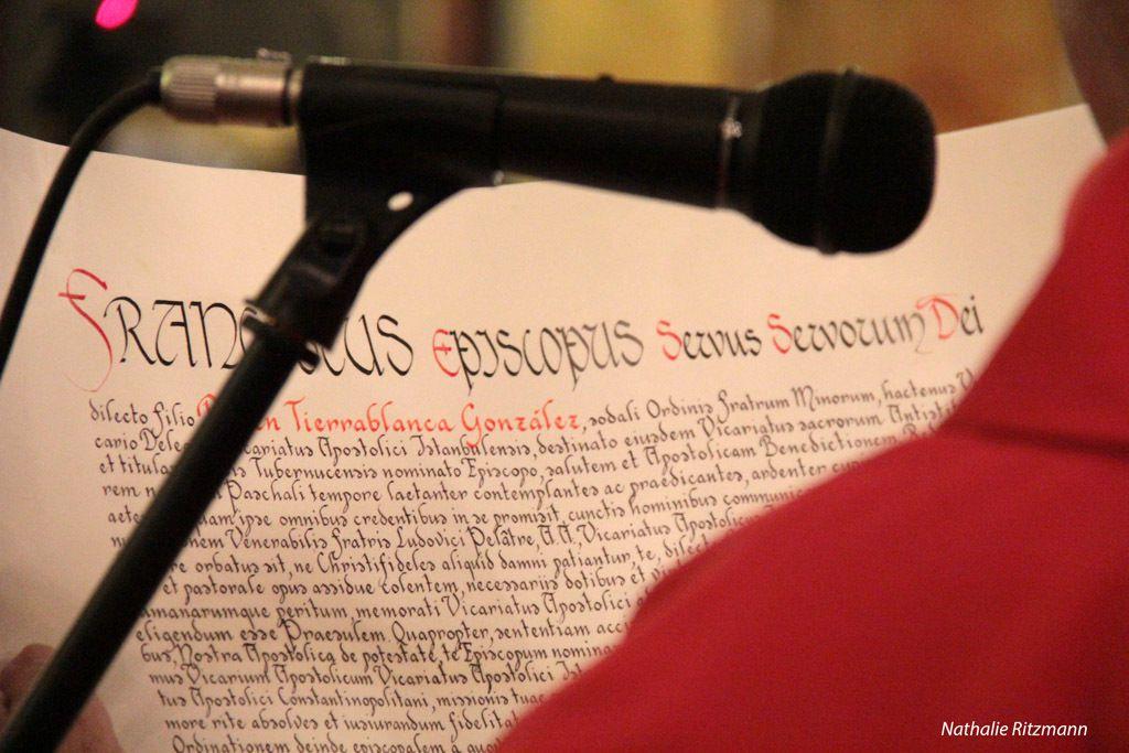 İstanbul'un yeni Episkoposu Vatikan'dan gelen latince yazılı