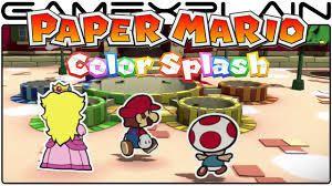 PAPER MARIO Color splash : Disponible le 7 octobre sur WII U