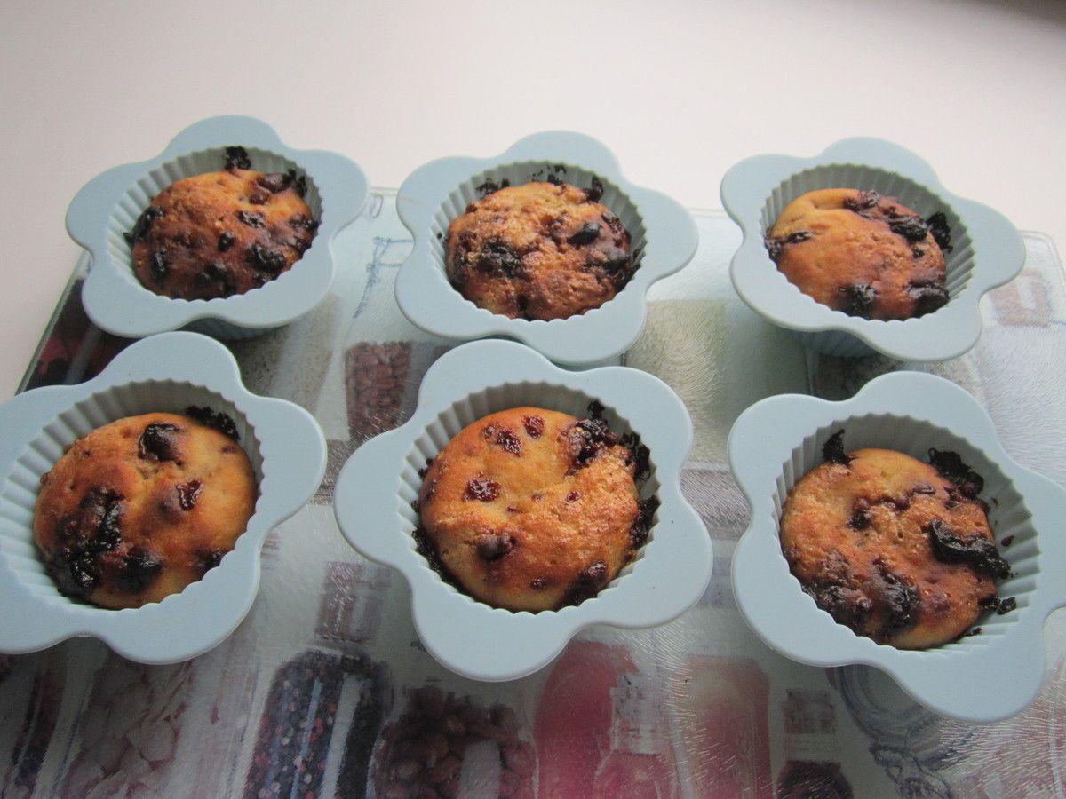 Muffins banane et chocolat au riz