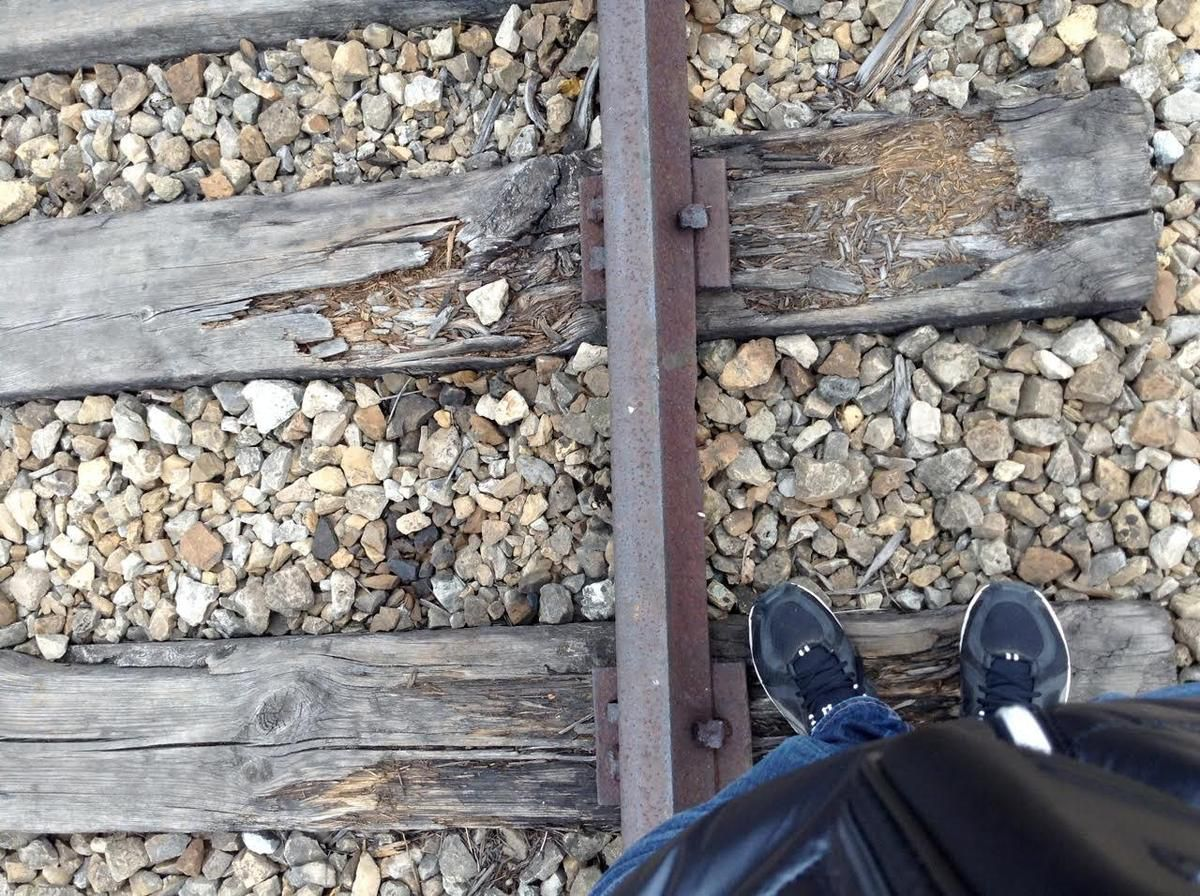 Rail of death in Auschwitz-Birkenau