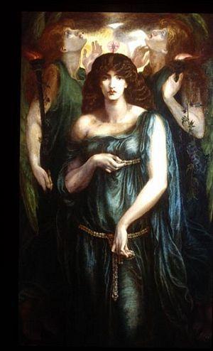 "Dante Gabriel Rossetti ( 1828 - 1882 ) , peintre , poète préraphaélite britannique : "" Astarte Syriaca "" ( 1876 / 1877 ) ."