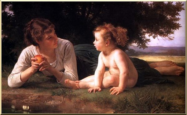 La Tentation , Bouguereau , 1880 .