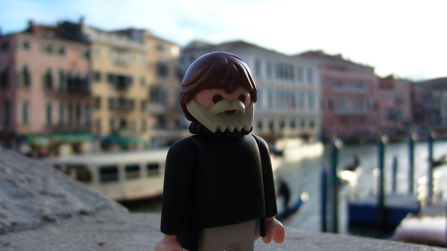 Ernest Hemingway-mobil à Venise :