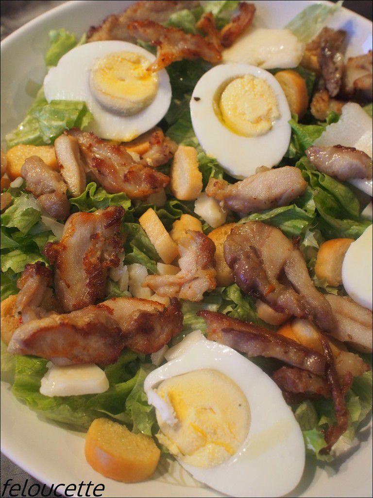 salade poulet/ parmesan