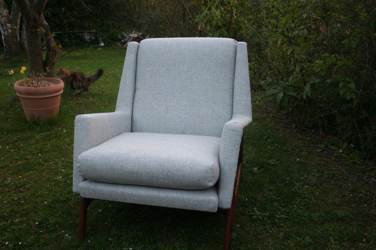 Restauration r fection fauteuil 70 caroline krug tapissier paris yvelines - Cours de restauration de fauteuil ...