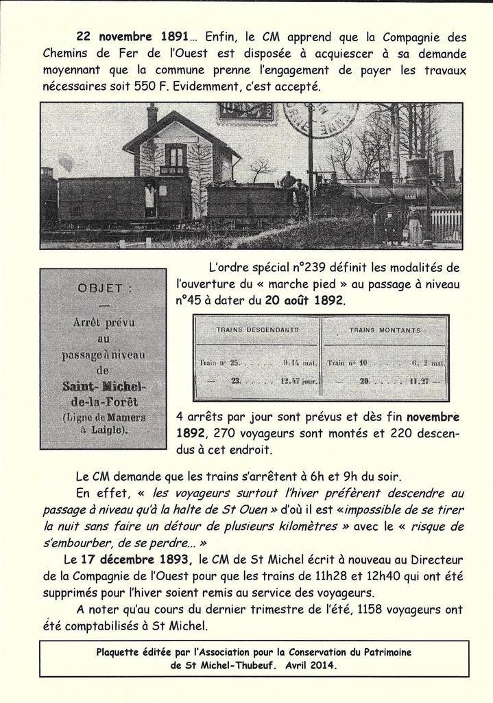 Infos Patrimoine n°4... Prendre le train.