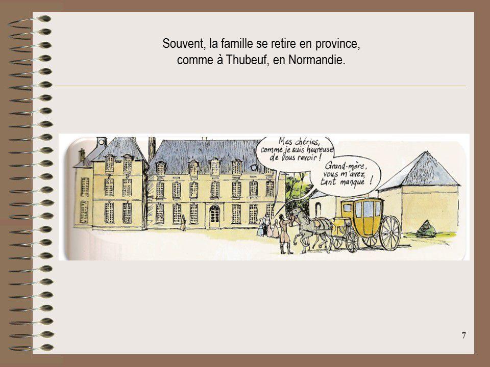 Avant la Révolution, Louise-Elisabeth à Thubeuf