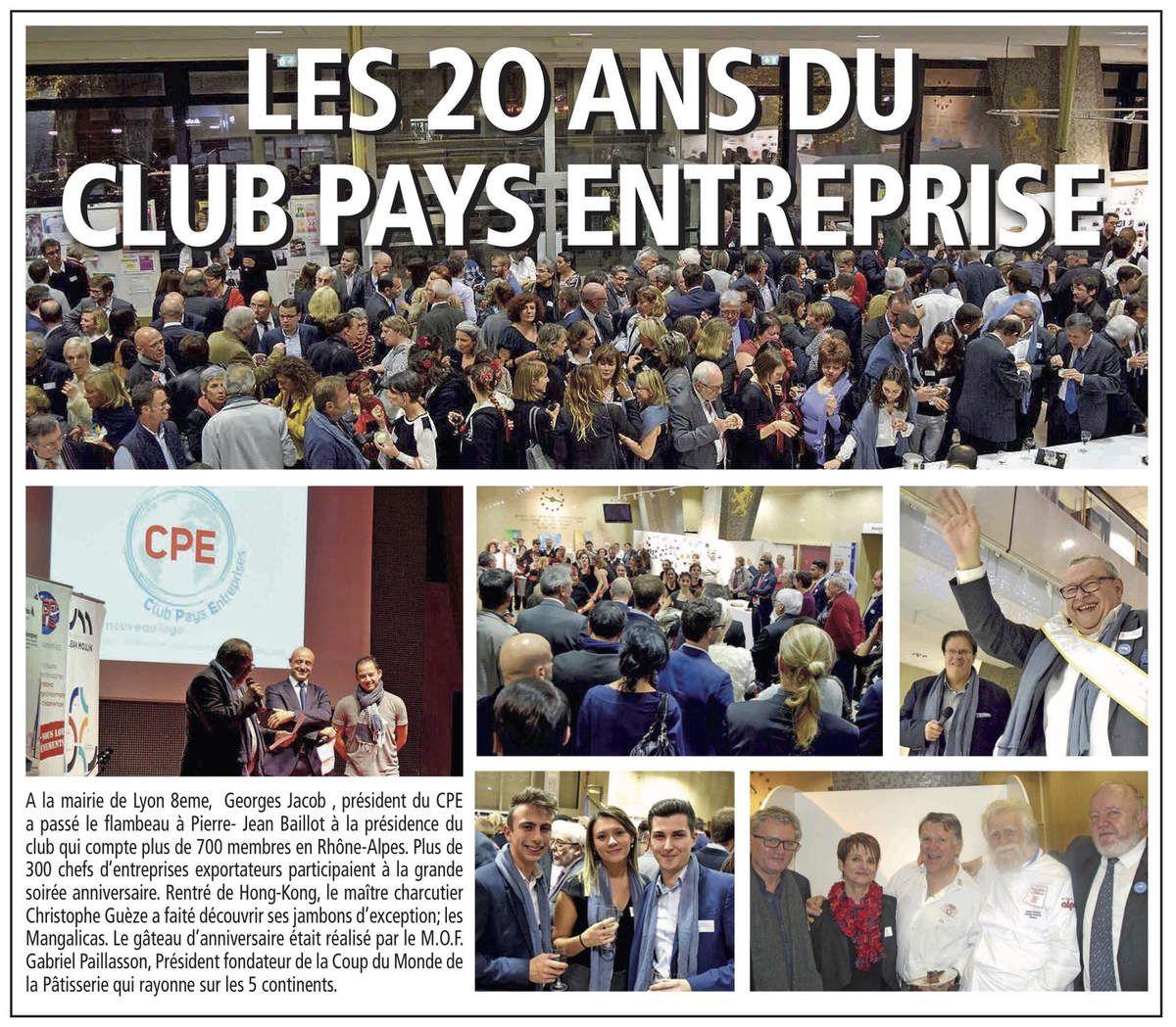 Revue de presse - 20 ans du Club Pays Entreprises