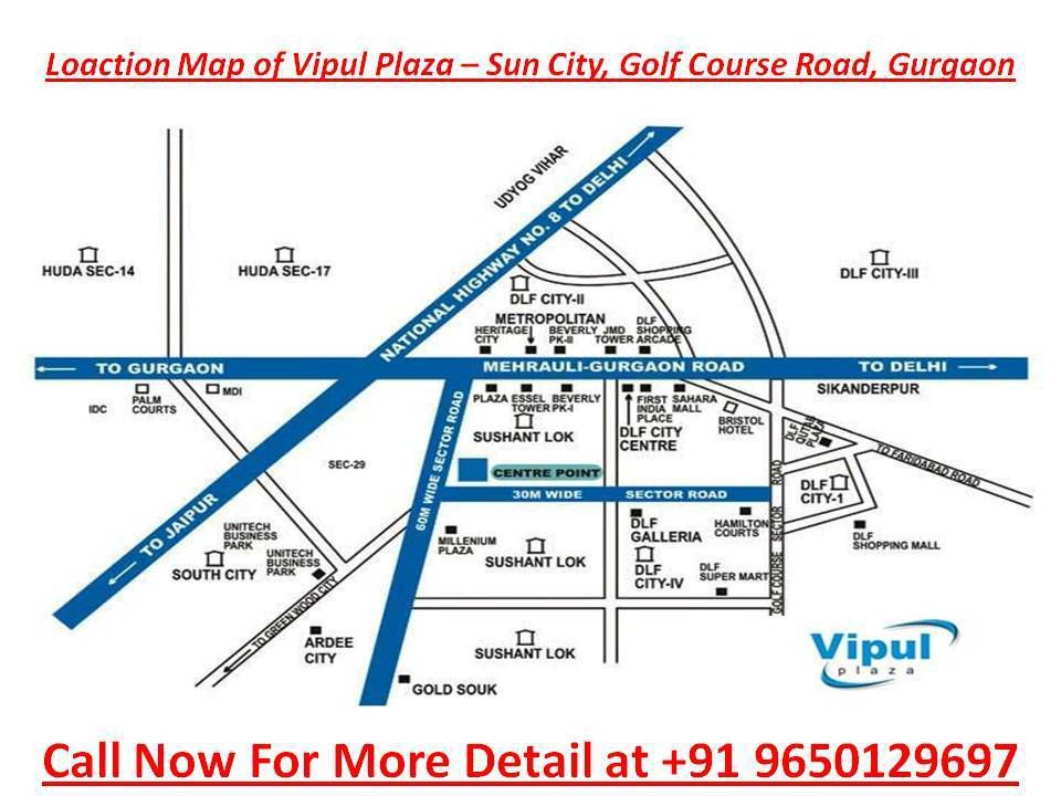 pre leased property for sale in Vipul Plaza Gurgaon:9873498205