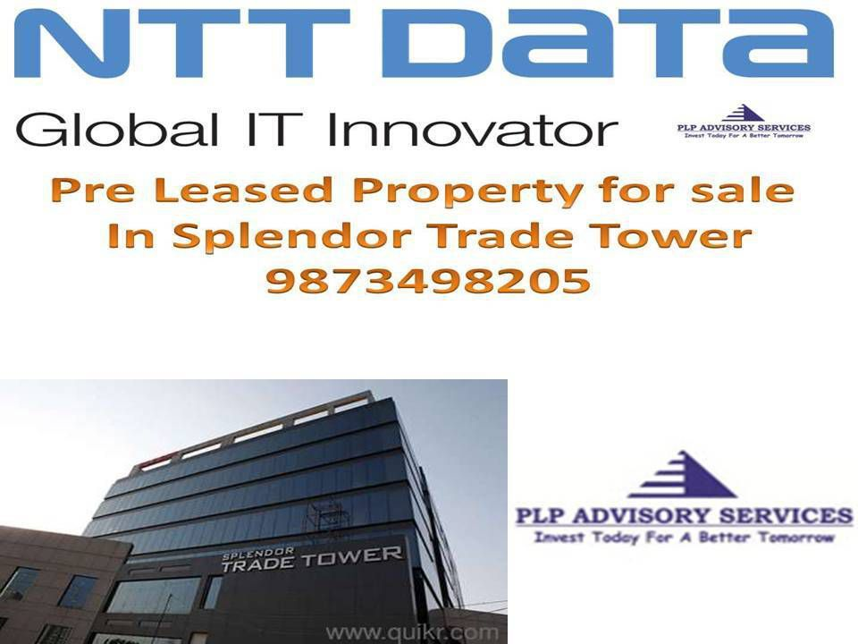 Pre Leased office space for sale in splendor trade tower Golf course extension road gurgaon:9873498205