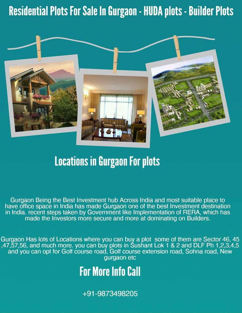 Residential Plots for sale in Gurgaon