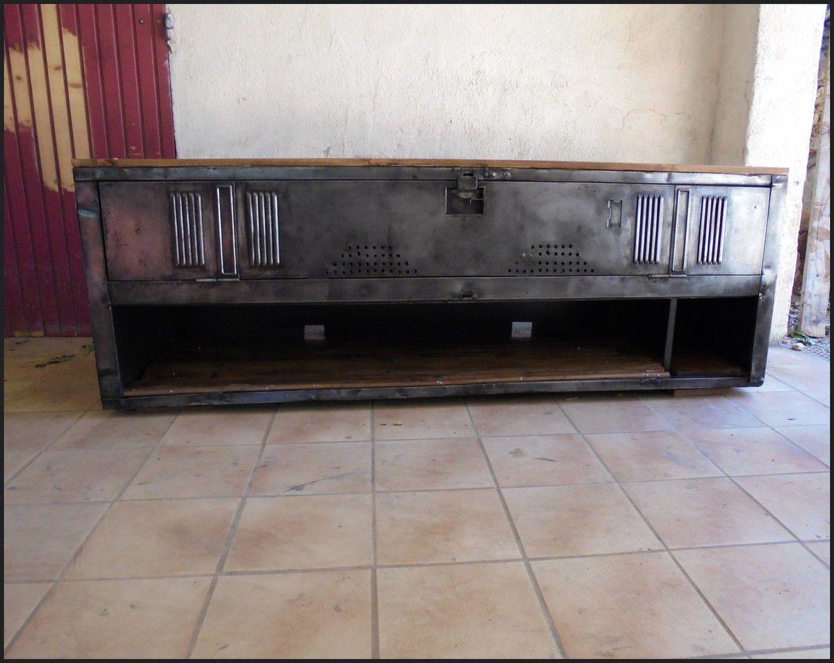 meuble tv hi fi industriel le blog de la salamandre bleue et de combustible23. Black Bedroom Furniture Sets. Home Design Ideas