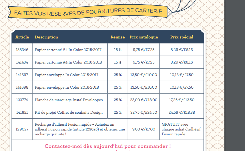 stampin'up promotions JOURNEE MONDIALE DE LA CARTERIE