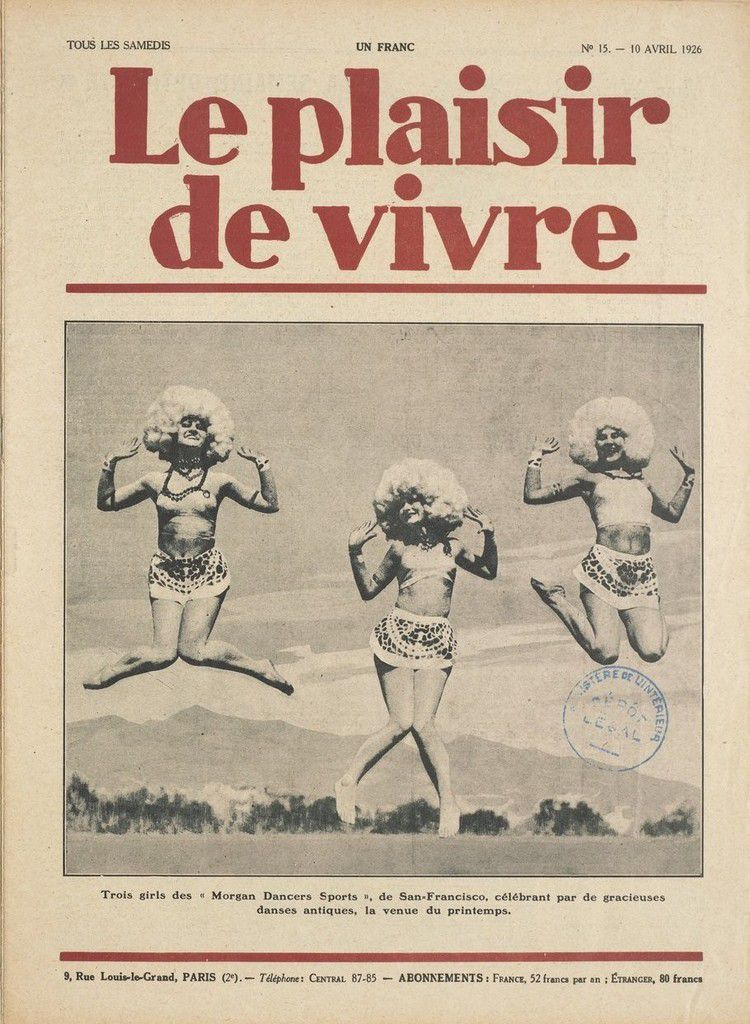 Le plaisir de vivre - 10 avril 1926 - Trois girls des Morgan Dancers Sports de San Francisco - Bnf Gallica