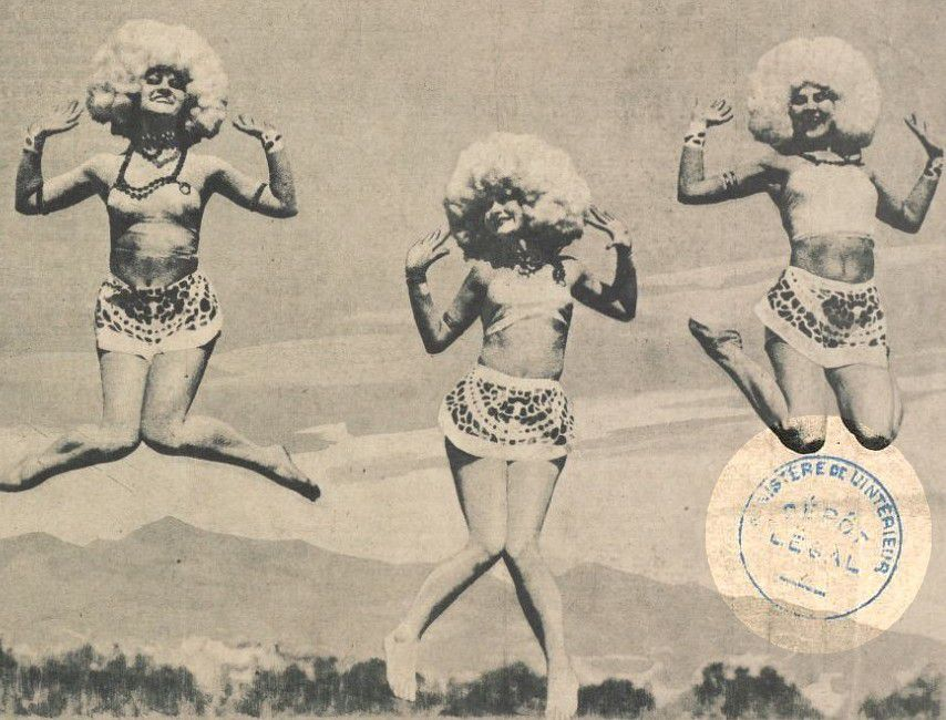 Gros plan - Le plaisir de vivre - 10 avril 1926 - Trois girls des Morgan Dancers Sports de San Francisco - Bnf Gallica