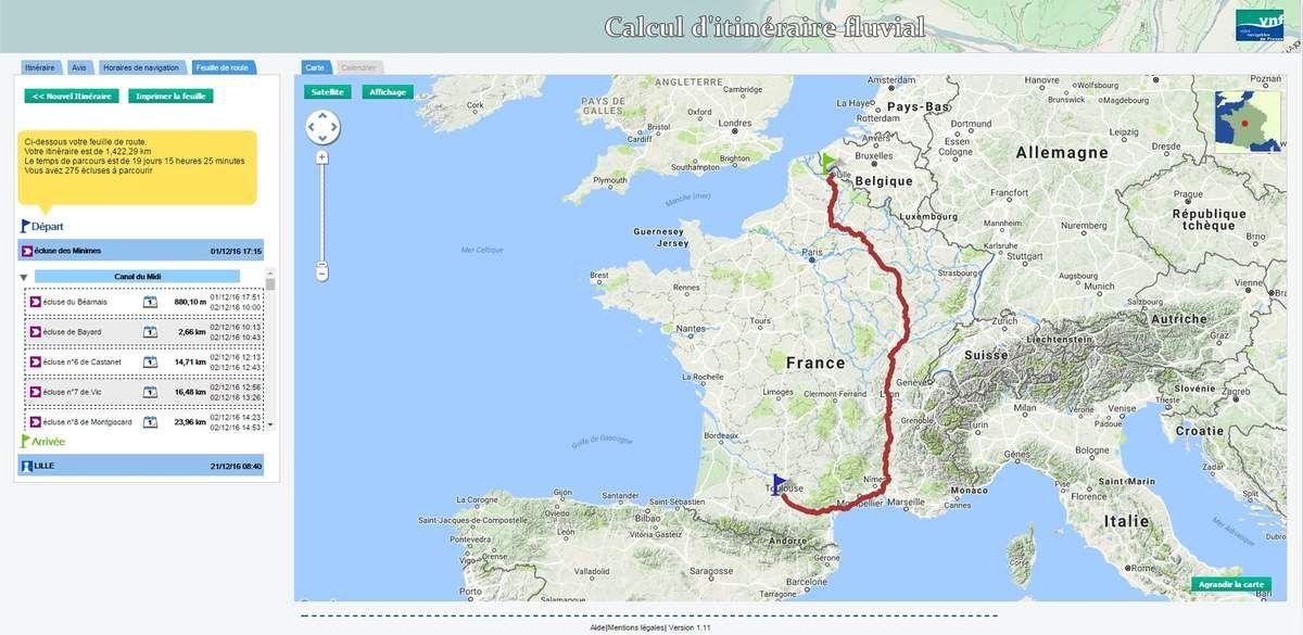 Mon voyage en péniche, de Toulouse à Lille - Image Voies navigables de France