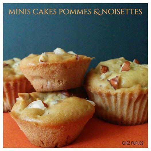 Minis cakes aux pommes &amp&#x3B; noisettes