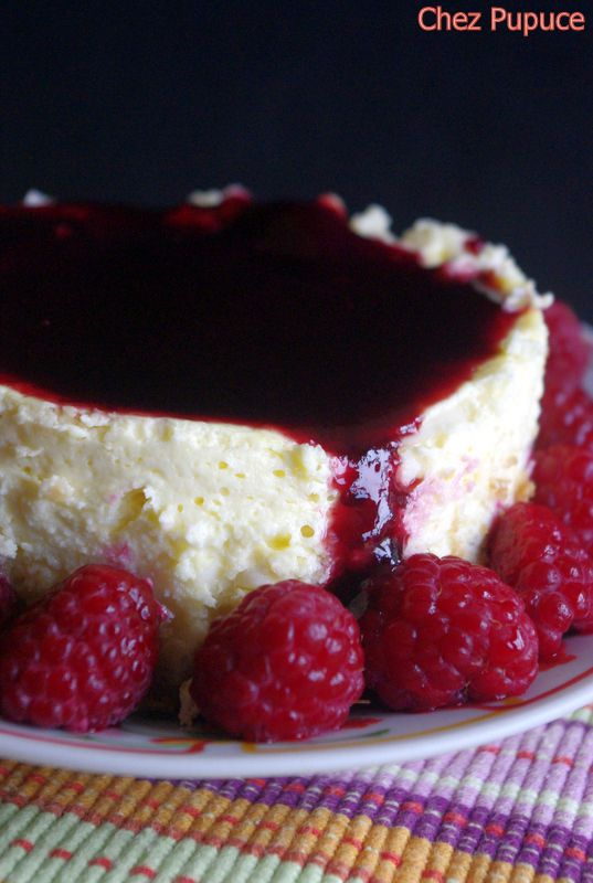 Baby cheesecake au fromage blanc, coco et fruits rouges