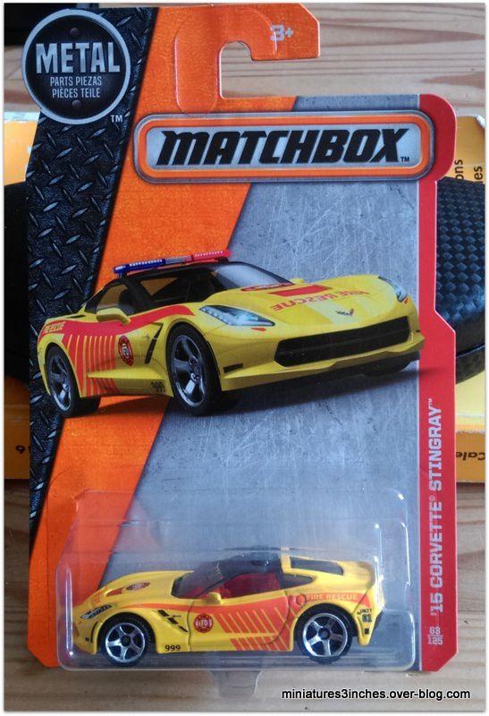 Corvette Stingray 2015  by  Matchbox.